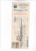 WALLISELLEN 1928 / / MENUFACTURE SOIES A COUDRE ZWICKY ET CIE / FISCAUX - Suisse