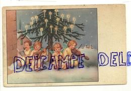 Petits Anges Musiciens, Sapin Et Bougies. 1956 - Non Classés
