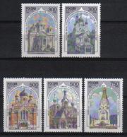 Russia 1995 Orthodox Churches  Y.T. 6136/6140 ** - 1992-.... Fédération
