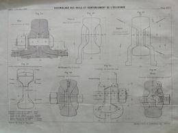 ANNALES DES PONTS Et CHAUSSEES - Plan D'Assemblage De Rails - Imp L.Courtier 1891 (CLE66) - Machines