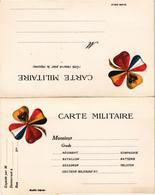 CARTE DOUBLE MILITAIRE Guerre De 1914-1915 - Trèfle à 4 Feuilles - Très Très Rare - Non écrite - Guerre 1914-18