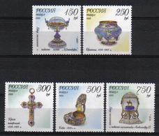 Russia 1995 Fabergé   Y.T. 6142/6146 ** - 1992-.... Fédération