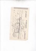 SAINT ETIENNE / CHEQUE CREDIT LYONNAIS 1921 - Chèques & Chèques De Voyage