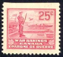 Canada Sc# FWS7 MH 1940-1941 25c Ships War Savings Stamp - Revenues