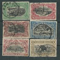 Congo Colonie Belge N° 64 / 71 O  La Série Des 8 Valeurs Oblitérations Moyennes Sinon TB - Congo Belge