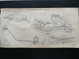 ANNALES DES PONTS Et CHAUSSEES (Dep 74 ) - Plan Du Chemin De Fer électrique Du Fayet à Chamonix - 1901 (CLE67) - Máquinas