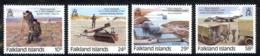 Falkland Islands Sc# 457-460 MNH 1986 Royal Engineers 200th - Falkland Islands