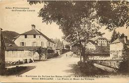 - Doubs -ref-A876- Nans Sous Ainte Anne - Nans Sous Ste Anne - Hotel Brouard - Poste -haut Du Village- Postes - Hotels - - France