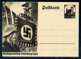 """DR; Sonderpostkarte 6 Pf. """" Reichsparteitag 1934 """"; Ungebraucht - Deutschland"""