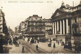 BRUXELLES - La Bourse Et La Boulevard Anspach - N'a Pas Circulé - Lanen, Boulevards