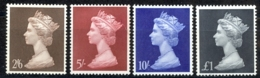 Great Britain Sc# MH18-MH21 MNH 1967-1969 2sh6p Machin - Unused Stamps
