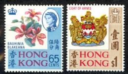 Hong Kong Sc# 245-246 MNH 1968 Definitives - Unused Stamps