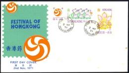 Hong Kong Sc# 265-267 FDC Combination (b) 1971 11.2 Festival Of Hong Kong - Hong Kong (...-1997)
