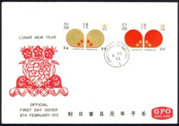 Hong Kong Sc# 268-269 FDC Combination (b) 1972 2.8 Lunar New Year - Hong Kong (...-1997)