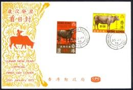 Hong Kong Sc# 273-274 FDC Combination (c) 1973 1.25 Lunar New Year - Hong Kong (...-1997)