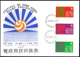 Hong Kong Sc# 291-293 Used Combination (b) 1973 11.23 Festival Of Hong Kong - Hong Kong (...-1997)