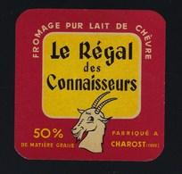 étiquette Fromage  Pur Lait De Chèvre Le Régal Des Connaisseurs Fabriqué à Charost Cher 50%mg - Quesos