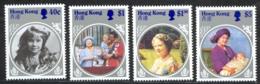 Hong Kong Sc# 447-450 MNH 1985 Queen Mother 85th Birthday - Hong Kong (...-1997)