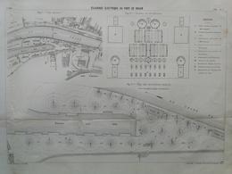 ANNALES DES PONTS Et CHAUSSEES (Dep 76) - Plan D'Eclairage électrique Au Port De Rouen - Imp L.Courtier 1898 (CLE68) - Máquinas