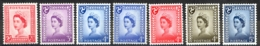 Isle Of Man Sc# 1-7 MH 1958-1969 Queen Elizabeth II - Isle Of Man