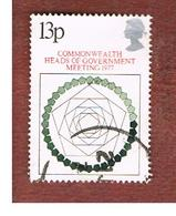 GRAN BRETAGNA (UNITED KINGDOM) -  SG 1038  -  1977 COMONWEALTH  MEETING    - USED° - 1952-.... (Elisabetta II)
