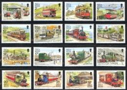 Isle Of Man Sc# 347-358D MNH 1988 Railways & Tramways - Isle Of Man