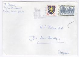 1977 Enveloppe Naar Antwerpen Van Saint Quentin -   Kast Stempel - France
