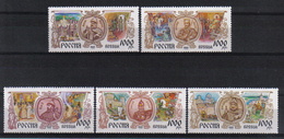 Russia 1995 Russian History  Y.T. 6159/6163 ** - 1992-.... Fédération