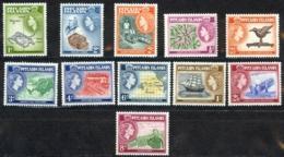 Pitcairn Islands Sc# 20-30 MNH 1957 Definitives - Pitcairn Islands