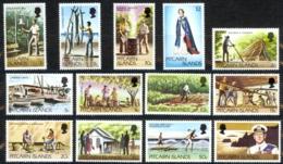 Pitcairn Islands Sc# 163-173 MNH 1977-1981 Definitives - Stamps