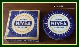 Boîte Métal Crème Nivéa Solaire 7,5 Cm Avec Sa Boîte Carton - Boîtes