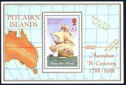 Pitcairn Islands Sc# 297 MNH Souvenir Sheet 1988 Australia 200th - Pitcairn Islands