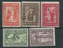 Congo Colonie Belge N° 150 / 58 X  La Série Des 9 Valeurs  Trace Charnière ( Le 151 Oblitéré) Sinon TB - 1923-44: Oblitérés