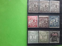 ALGERIE TAXE 1926 - 1940, 9 Timbres Neufs * Avec Nuances Couleur Papier, TB - Algeria (1924-1962)
