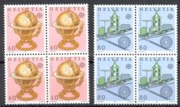 Switzerland Sc# 737-738 MNH Blocks/4 1983 Europa - Switzerland