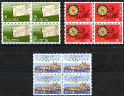 Switzerland Sc# 744-746 MNH Blocks/4 1984 Definitives - Switzerland