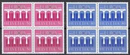 Switzerland Sc# 747-748 MNH Blocks/4 1984 Europa - Switzerland