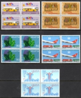 Switzerland Sc# 803-807 MNH Blocks/4 1987 Definitives - Switzerland
