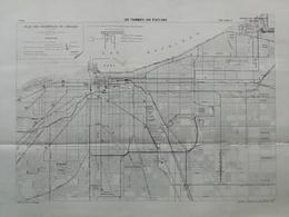 ANNALES DES PONTS Et CHAUSSEES (Etats-Unis) - Plan Des Tramways Aux Etats-Unis - Imp L.Courtier 1896 (CLE70) - Machines