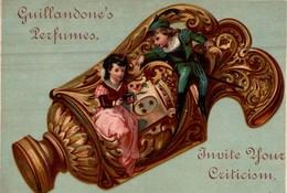 CHROMO  GUILLANDONE'S PERFUMES  INVITE YOUR CRITICISM - Trade Cards