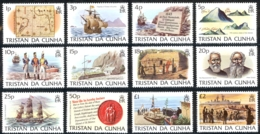 Tristan Da Cunha Sc# 332-343 MNH 1983 Island History - Tristan Da Cunha