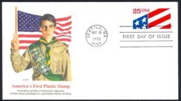 USA Sc# 2475 (Fleetwood) FDC (Seattle, WA) 1990 5.18 America's First Plastic Stamp - First Day Covers (FDCs)
