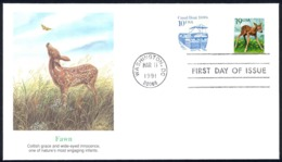 USA Sc# 2479 (Fleetwood) FDC (Washington, DC) 1991 3.11 Fawn - First Day Covers (FDCs)