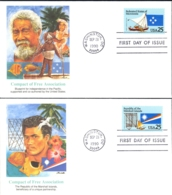 USA Sc# 2506-2507 (Fleetwood) FDC Set/2 (Washington, DC) 1990 9.28 Compacts Of Free Association - First Day Covers (FDCs)