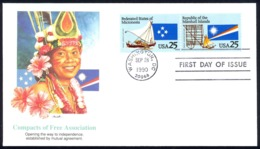 USA Sc# 2507a (Fleetwood) FDC (Washington, DC) 1990 9.28 Compacts Of Free Association - First Day Covers (FDCs)