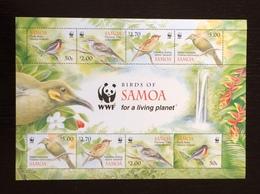 Samoa 2009; WWF Animals & Fauna Birds; MNH VF** Rare!! - W.W.F.