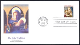 USA Sc# 2514b (Fleetwood) FDC (Washington, DC) 1990 10.18 Madonna And Baby - First Day Covers (FDCs)