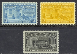 USA Sc# E17-E19 MNH 1944-1951 Postman And Motorcycle - Special Delivery, Registration & Certified