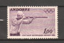 Andorra French 1972 Mi 241 MNH SUMMER OLYMPICS - Neufs
