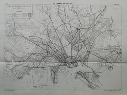 ANNALES DES PONTS Et CHAUSSEES (Etats-Unis) - Plan Des Tramways Aux Etats-Unis - Imp L.Courtier 1896 (CLE71) - Machines